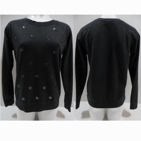 Old Navy Tops - Old Navy sweatshirt Medium crew sequin polka dot